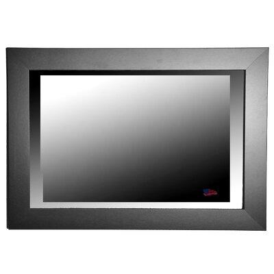 Rayne Mirrors Jovie Jane Black Satin Wide Wall Mirror