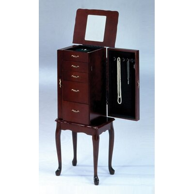 Bernards Small Jewelry Armoire in Cherry