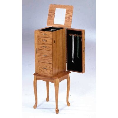 Bernards Small Jewelry Armoire in  Oak
