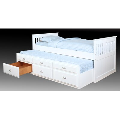 Bernards Captains Bed in White