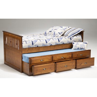 Bernards Captains Bed in Dark Cherry