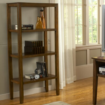 "Bernards Pecan 60"" Bookcase"