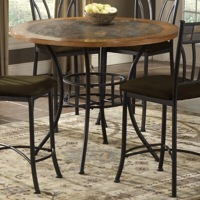 Bernards Rock Wood / Stone Counter Height Pub Table with Optional Stools