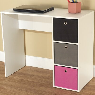 TMS Writing Desk with 3 Bins