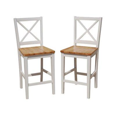 White Wood Counter Stool Wayfair