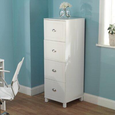 TMS Bradley 4-Drawer Filing Cabinet