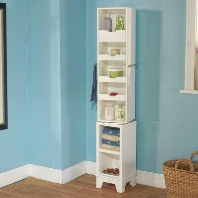 Free standing linen tower wayfair - Freestanding bathroom linen closet ...