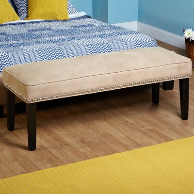 TMS Microfiber Nailhead Bedroom Bench