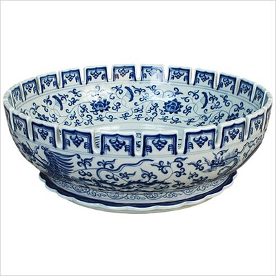 Handmade Porcelain Ming Dynasty Bathroom Sink - P007