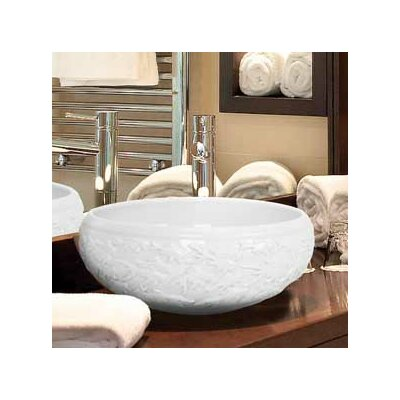 Hand Carved Porcelain Fish Bathroom Sink - P003 B / P003 W