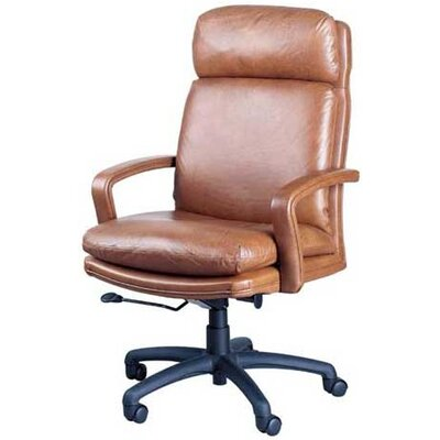 High Point Furniture High-Back Leather Executive Chair with Spider Base