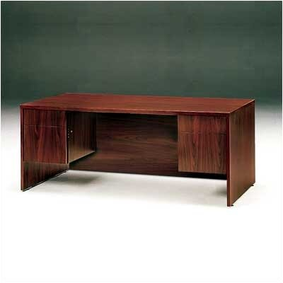 "High Point Furniture Bravo Panel 72"" W Double Pedestal Office Computer Desk"