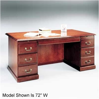 High Point Furniture Legacy Series Double Pedestal Veneer Desk