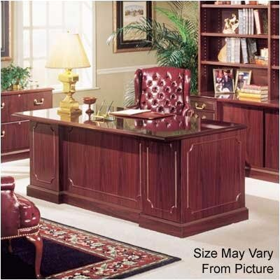 "High Point Furniture Bedford 60"" Double Pedestal Executive Desk"