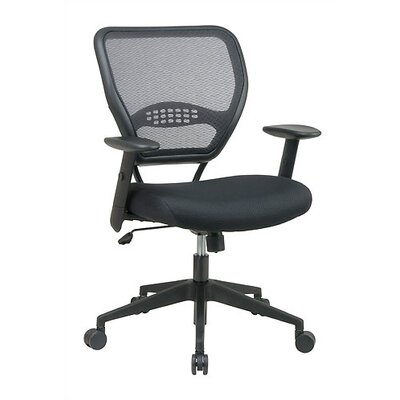 High Point Furniture Mid-Back Leather Managerial Chair with Arms