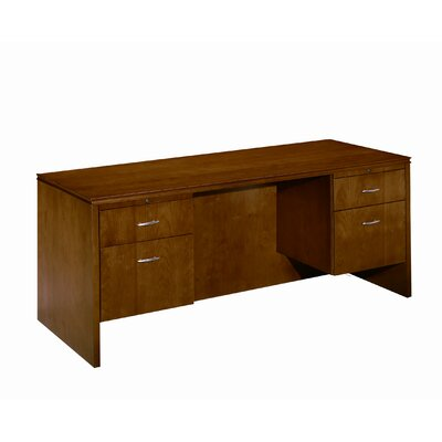 High Point Furniture Forte 3/4 Pedestal Computer Credenza with Drawer