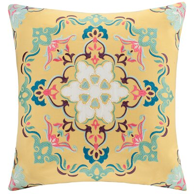 Intelligent Design Medallion Embroidered Square Pillow