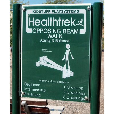 Kidstuff Playsystems, Inc. Opposing Beam Walk and Sign