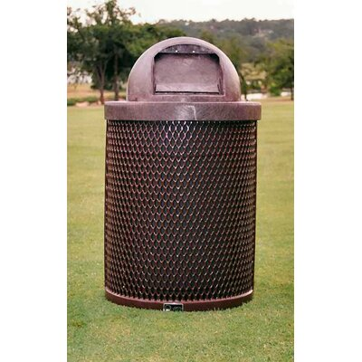 Trash Receptacle with Dome Lid