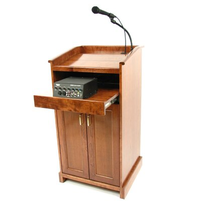 Executive Wood Products Collegiate Evolution Sound System Full Podium