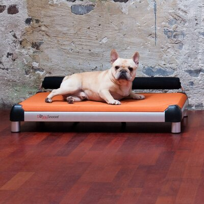 Dutch Dog Dog Sleeper with an Anodized Frame, Long Legs, and Memory Foam