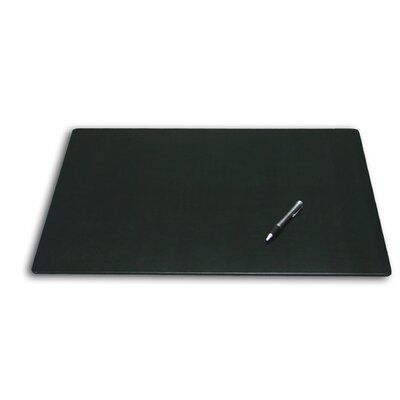 Dacasso 1000 Series Classic Leather 24 x 19 Desk Mat without Rails in Black