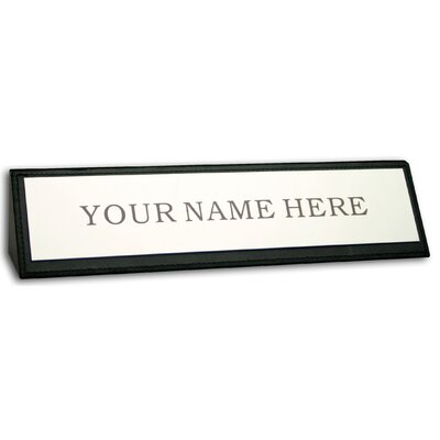1000 Series Classic Leather Name Plate in Black