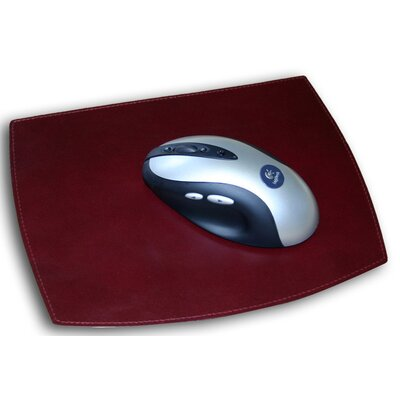 Dacasso 7000 Series Contemporary Leather Mouse Pad in Burgundy