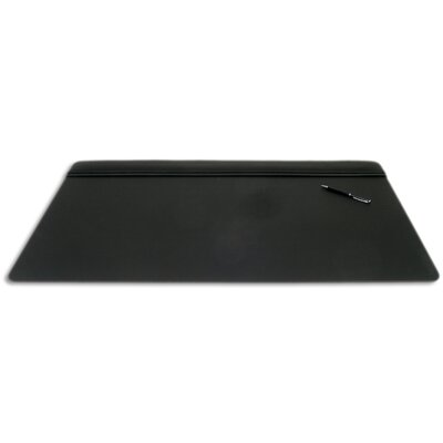 Dacasso 1000 Series Classic Leather 34 x 20 Top-Rail Desk Pad in Black