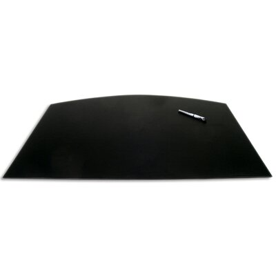 Dacasso 1000 Series Classic Leather 34 x 24 Arched Desk Mat in Black