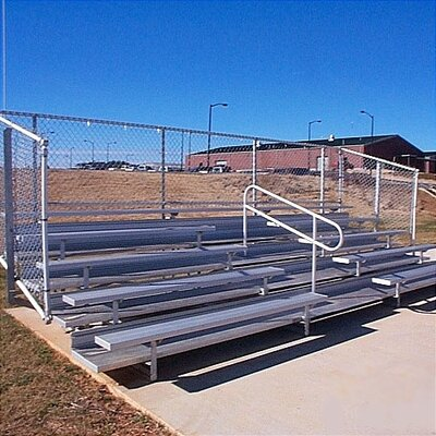 All Star Bleachers 5 Row Angle Frame Bleachers with Aisle