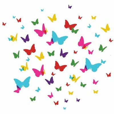 WallCandy Arts Flutterflies2 Wall Stickers 84 Piece Set