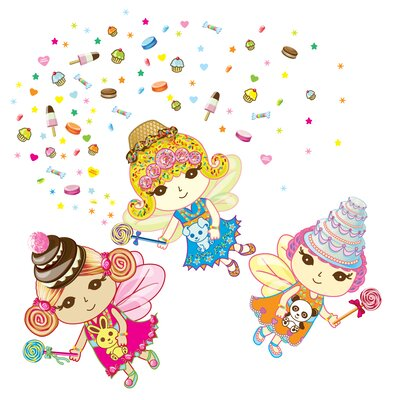 Just For Fun Sweet Dreams Fairies Wall Decal 106 Piece Set