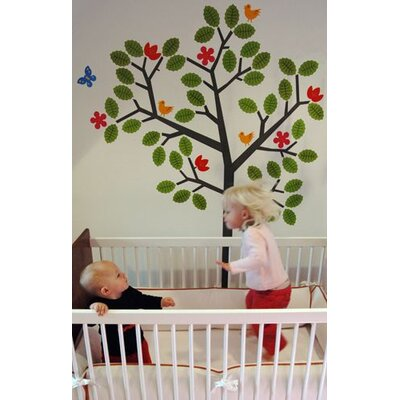 WallCandy Arts Seasons Tree Wall Decal 38 Piece Set