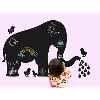 WallCandy Arts Chalkboards Baby Elephant Wall Decal 43 Piece Set