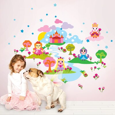 WallCandy Arts WallCandy Arts and French Bull Princess Wall Decal 97 Piece Set