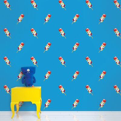 WallCandy Arts Push Pops Wallpaper in Blue