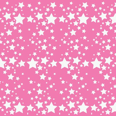 WallCandy Arts French Bull Starlight Wallpaper in Rose
