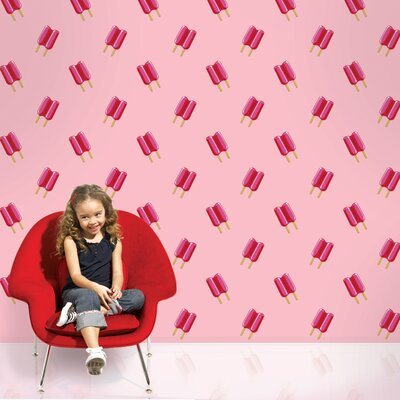 WallCandy Arts Twin Pops Wallpaper in Pink