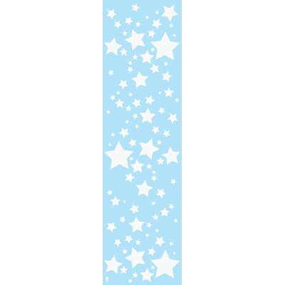 WallCandy Arts French Bull Starlight Wallpaper in Sky