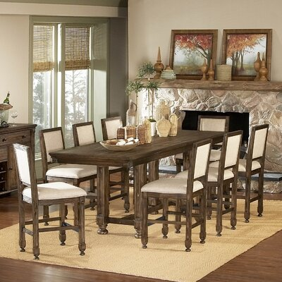 Woodbridge Home Designs 893 Series 9 Piece Counter Height Dining Set