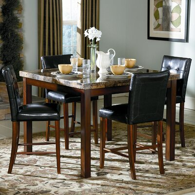 Woodbridge Home Designs Achillea 5 Piece Counter Height Dining Set