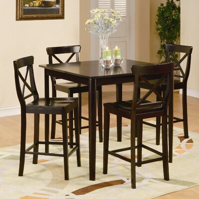 Woodbridge Home Designs Blossom Hill 5 Piece Counter Height Dining Set