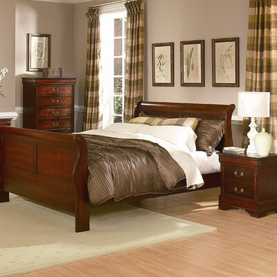 Woodbridge Home Designs Chateau Brown Sleigh Bedroom Collection