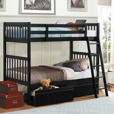 Leslie Twin over Twin Bunk Bed with Storage