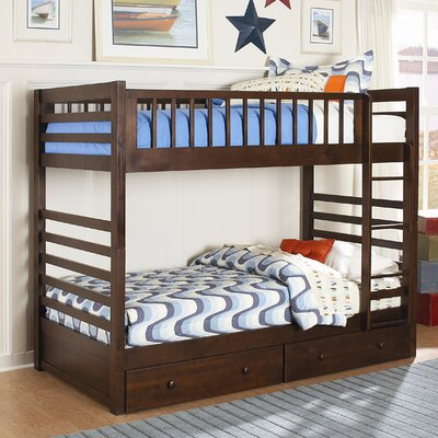 Woodbridge Home Designs Dreamland Bunk Bed with Built-In Ladder and Storage