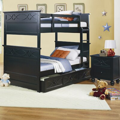 Woodbridge Home Designs Sanibel Twin Bunk Bed with Built-In Ladder and Storage