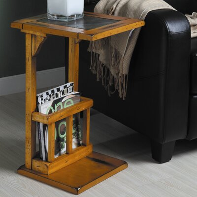 Berman Slate Chairside Table