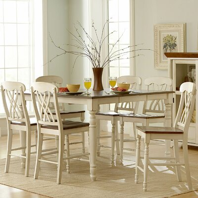 Woodbridge Home Designs Ohana 7 Piece Counter Height Dining Set