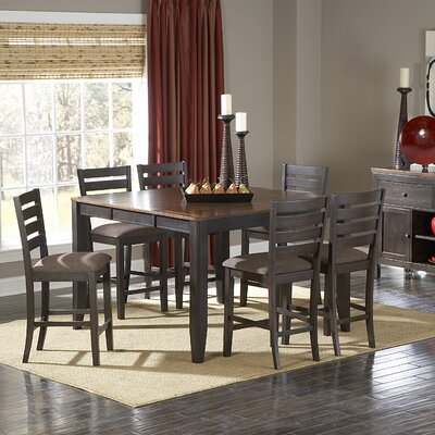 Woodbridge Home Designs 5341 Series 7 Piece Counter Height Dining Set